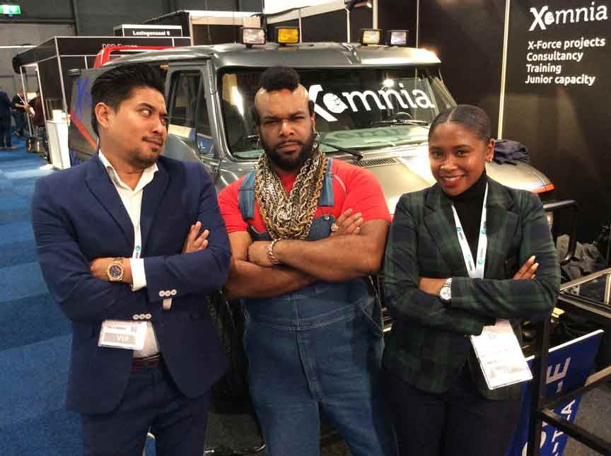 Mr T Lookalike Xomnia corporate day hire Northampton London Milton Keynes UK