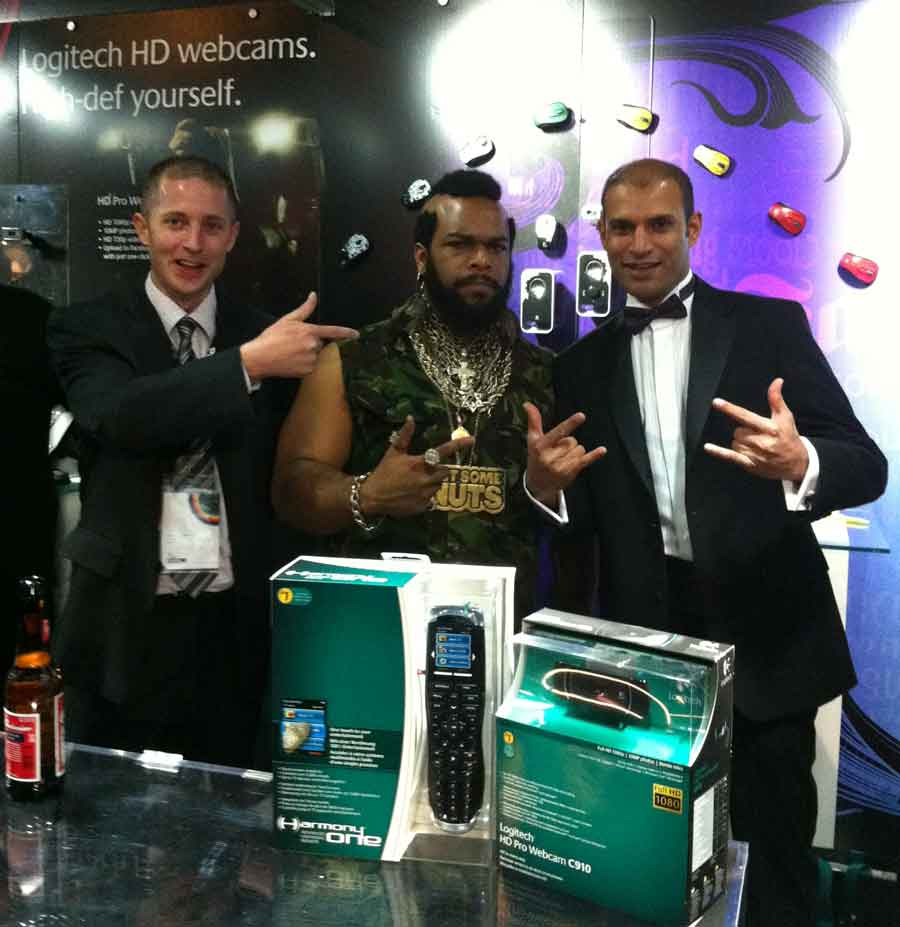 Mr T Lookalike Logitech corporate day hire Northampton London Milton Keynes UK