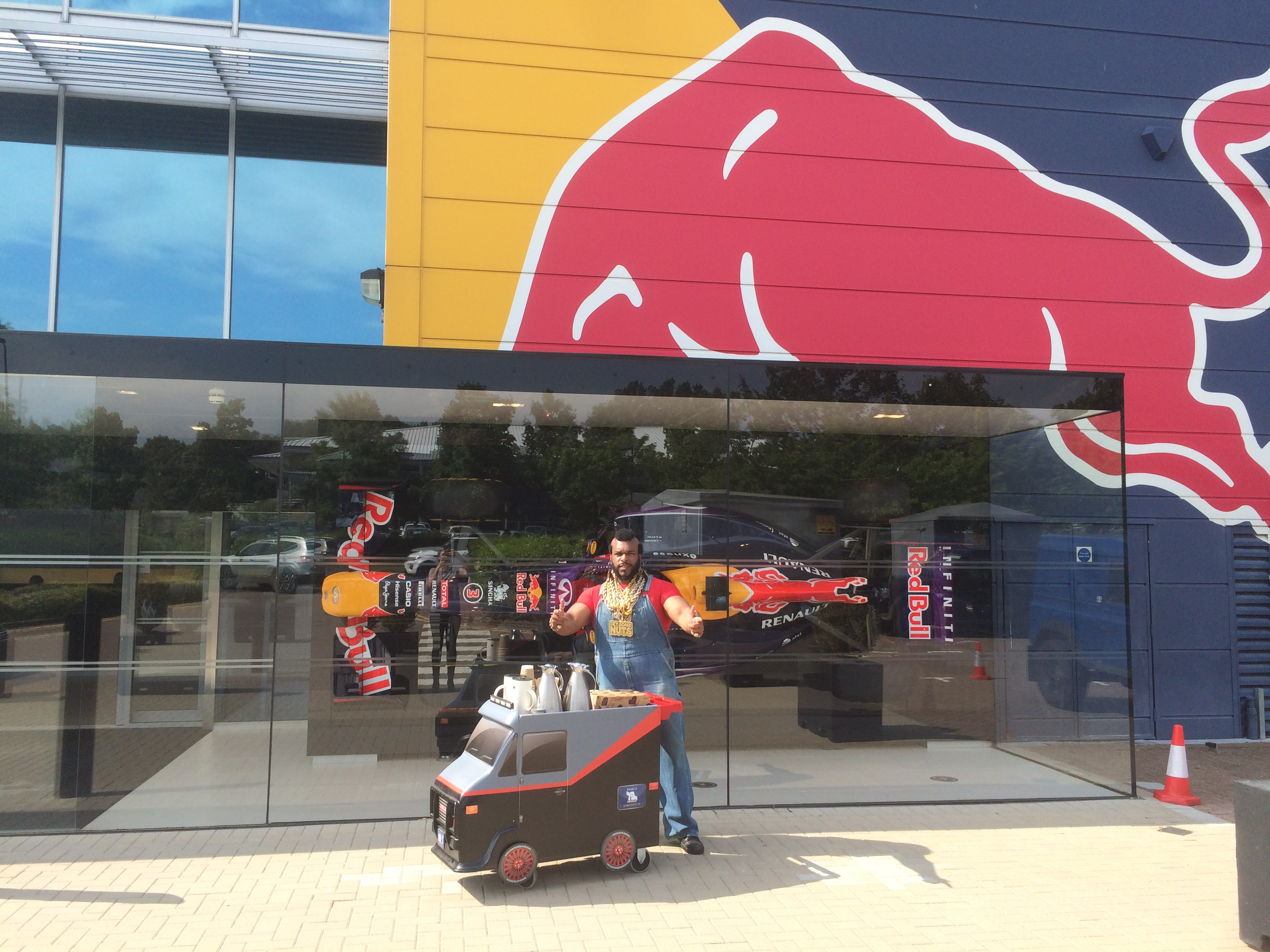 Mr T Lookalike Red Bull corporate day hire Northampton London Milton Keynes UK