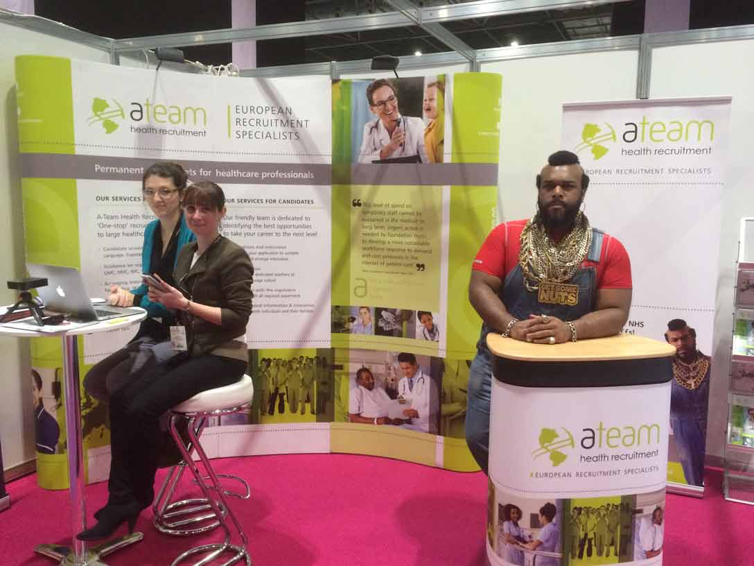 Mr T Lookalike A team recruitment corporate day hire Northampton London Milton Keynes UK