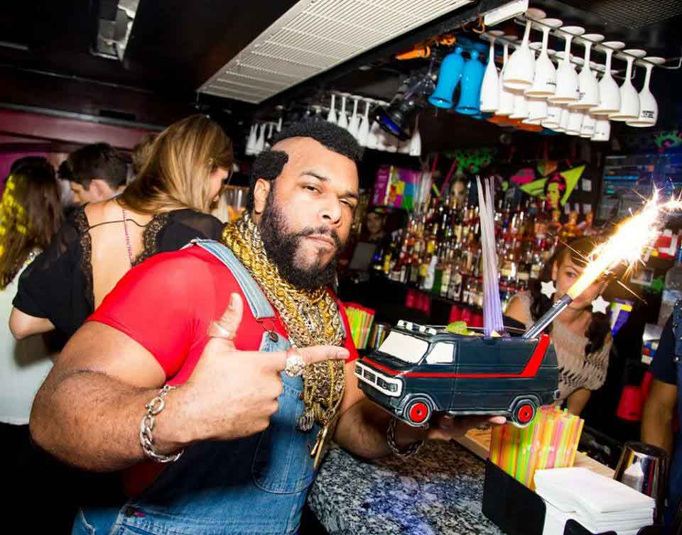 Mr T Lookalike coperate 80s event ideas birthday ideas video message from Mr T Trolly service celebrity parties and 80s events gym adverts public appearances weddings wedding DJ host party music