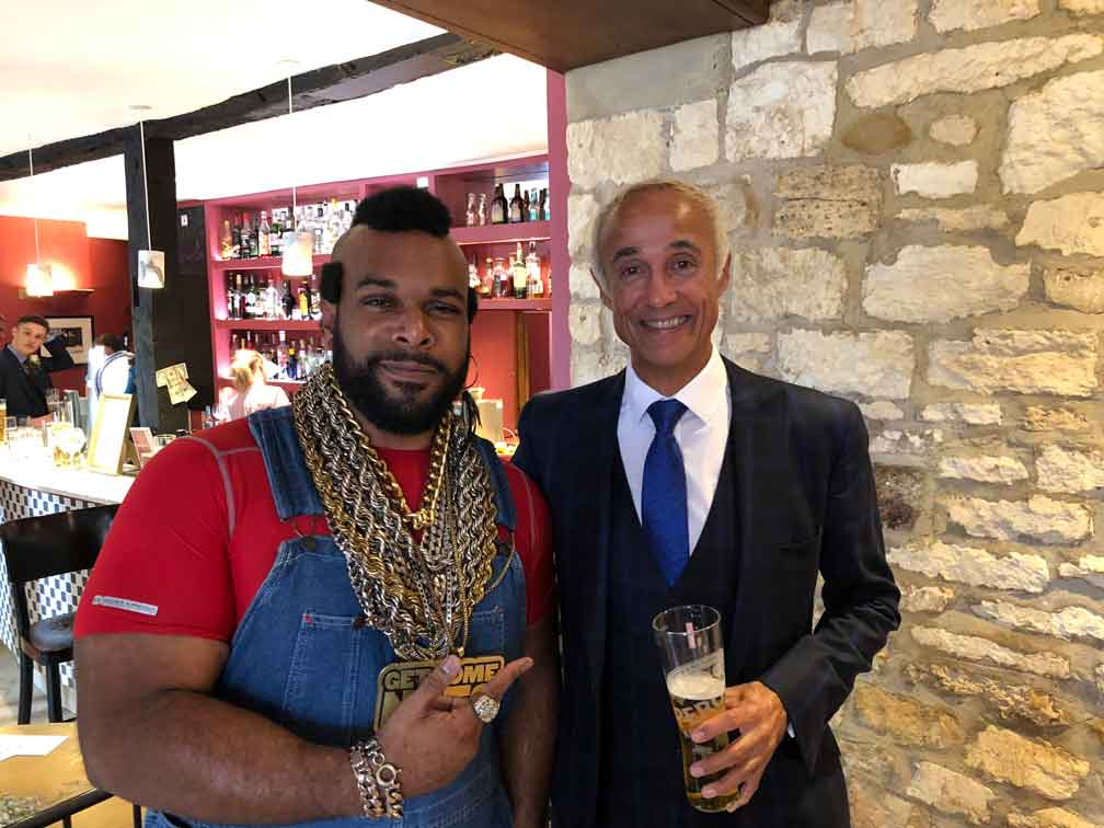 Mr T Lookalike coperate 80s event ideas birthday ideas video message from Mr T Trolly service celebrity parties and 80s events